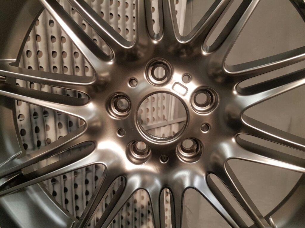 Alloy wheel refurb in Bramhall